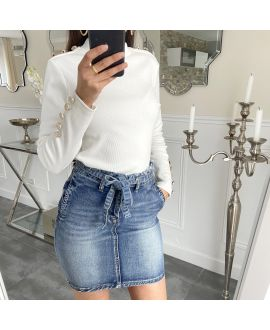 PACK 4 SKIRTS, JEANS S-M-L-XL 5262 BLUE