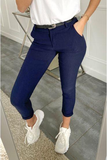 PACK OF 5 PANTS + BELT S-M-L-XL-XXL 5177 NAVY BLUE