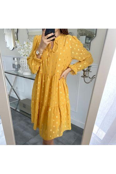 DRESS GOLDEN 5287 MUSTARD