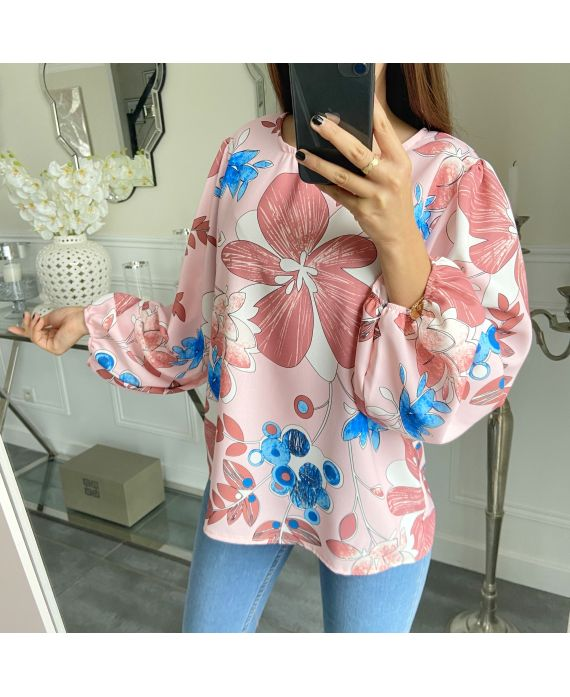 BLUSE FLOWERS 5289 ROSA
