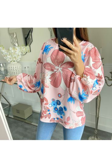 BLOUSE FLOWERS 5289 ROSE