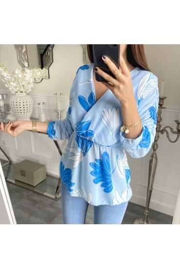 TUNIC PRINTED DETAILS SHORT 5285 BLUE