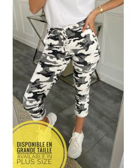 LARGE SIZE PANTS JOGG 5321 WHITE
