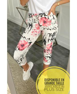 LARGE SIZE PANTS JOGG 5316 PINK