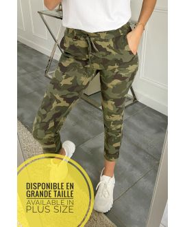 LARGE SIZE PANTS JOGG 5318 MILITARY GREEN