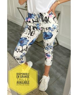 LARGE SIZE PANTS JOGG 5316 BLUE