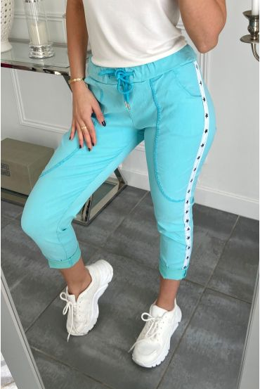 PANTS JOGG BAND STAR 5301 BLUE LAGOON