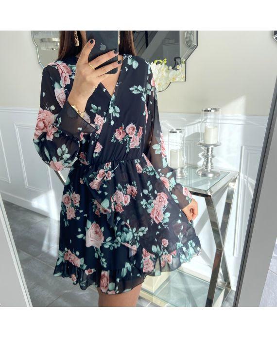 DRESS FLOWER WALLET 5299 BLACK