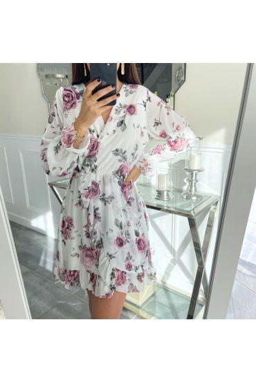 DRESS FLOWER WALLET 5299 WHITE