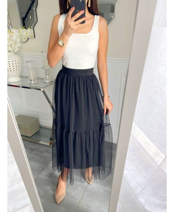 LONG SKIRT TULLE 5235 BLACK