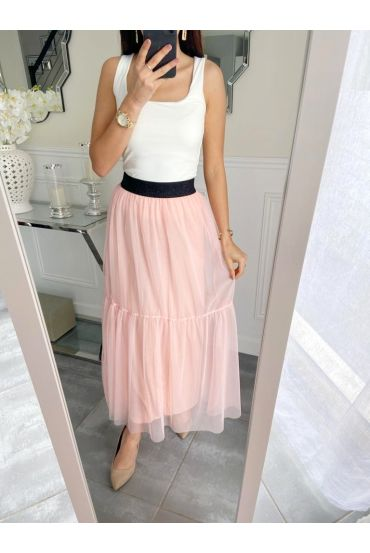 GONNA LUNGA IN TULLE 5235 ROSA