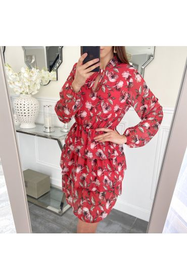 DRESS FLOWER OVERLAY 5230 RED