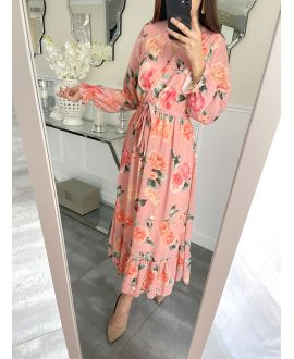 LONG DRESS FLORAL 5254 FISHING