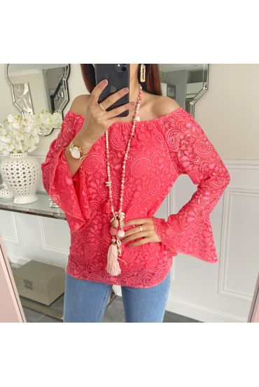 TUNIC LACE 5248 CORAL
