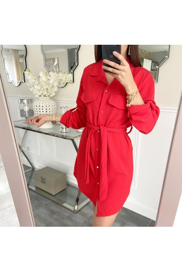 ROBE TUNIQUE 5237 ROUGE