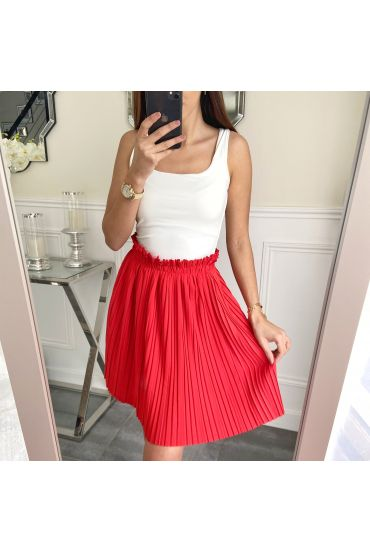 SHORT SKIRT WITH PLEATS 5236 RED