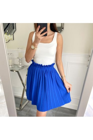 SHORT SKIRT WITH PLEATS 5236 ROYAL BLUE