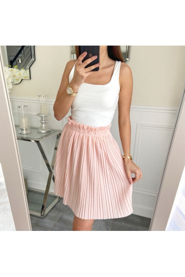 SHORT SKIRT WITH PLEATS 5236 PINK