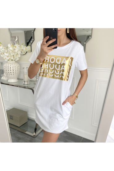 TUNIC LONG J LOVE 5233 WHITE