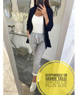 LARGE SIZE PANTS JOGG TILES 5225 GREY