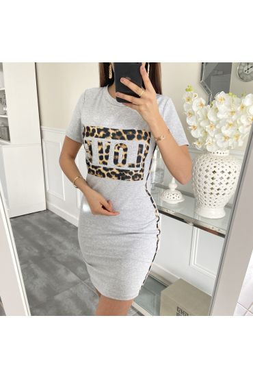 DRESS LEO LOVE 5412 GREY