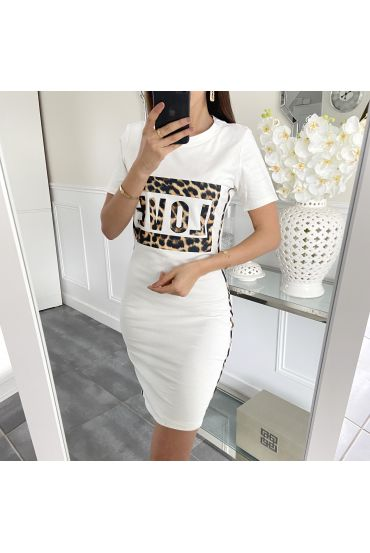 DRESS LEO LOVE 5412 WHITE