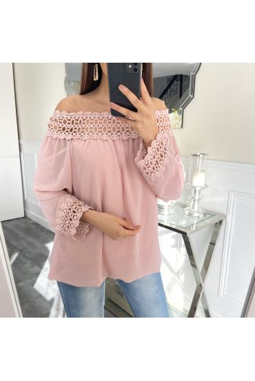 LACE TOP 5410 ROSE