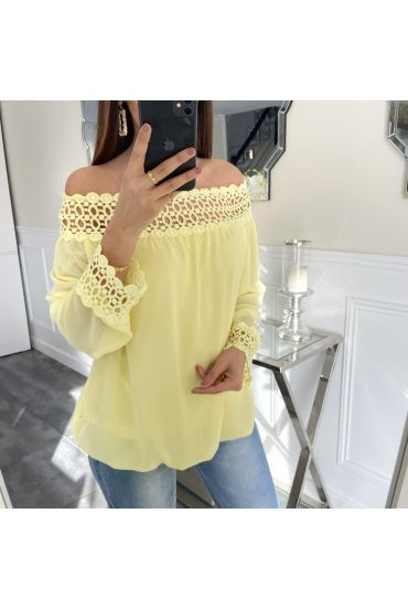 LACE TOP 5410 GEEL