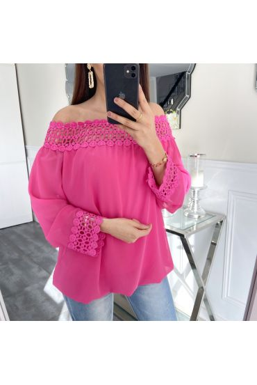 LACE TOP 5410 FUSHIA