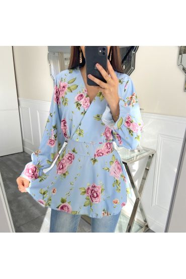 TUNIC FLORAL 5408 BLUE SKY