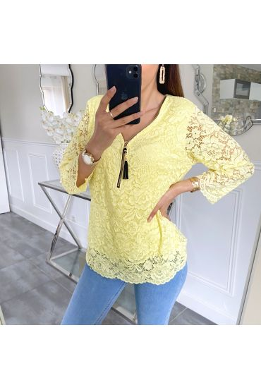 LACE TOP ZIP 5422 YELLOW