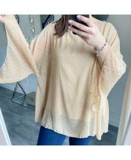 LARGE SIZE TUNIC SLEEVES BATS 5256 BEIGE