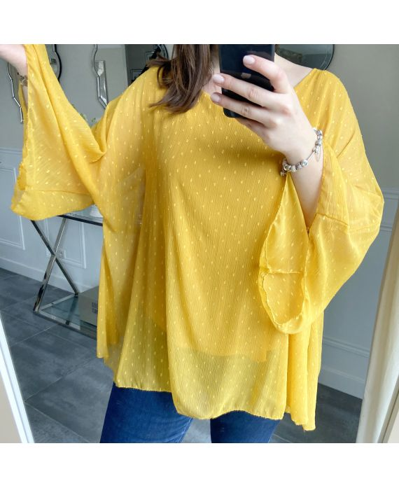 LARGE SIZE TUNIC SLEEVES BATS 5256 MUSTARD