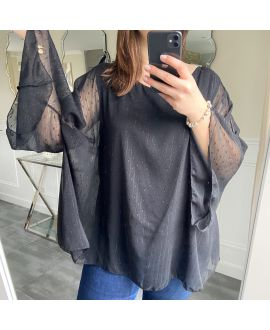 LARGE SIZE TUNIC SLEEVES BATS 5256 BLACK