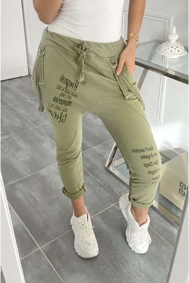 PANTS HAREM PANTS STRAPLESS 5454 MILITARY GREEN