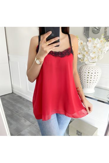 TOP CAMISOLE LACE 5447 RED