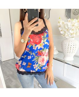 TOP CAMISOLE LACE PRINT FLORAL 5448