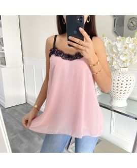 TOP CAMISOLE LACE 5447 PINK