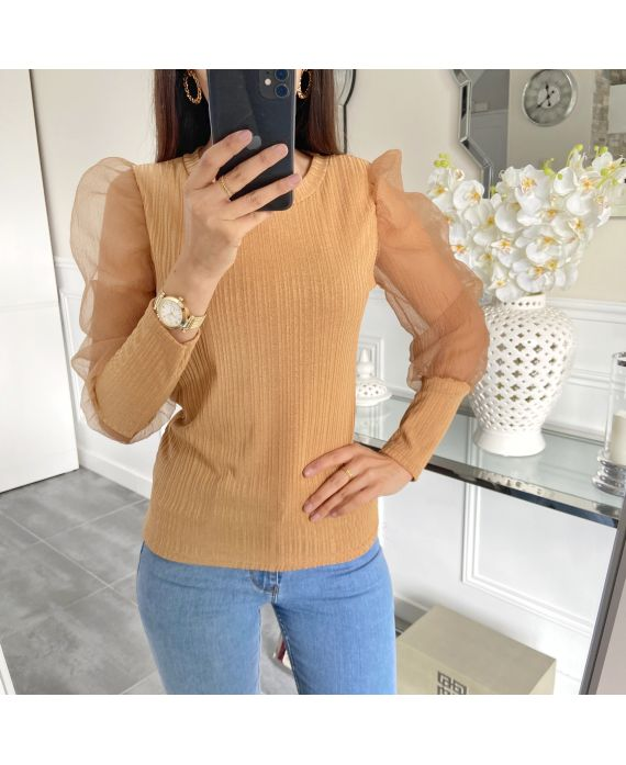 SWEATER SLEEVES CLOAKING 5268 CAMEL