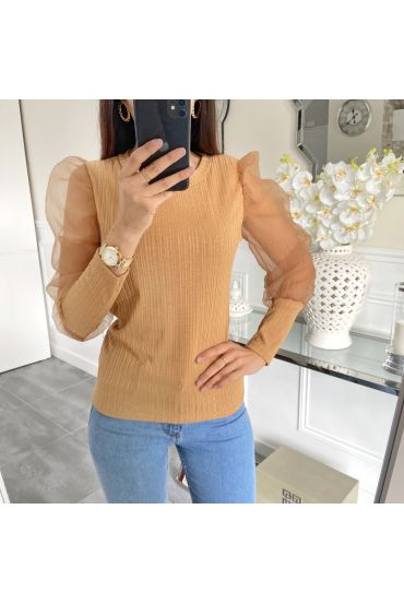 PULL MANCHES VOILAGE 5268 CAMEL