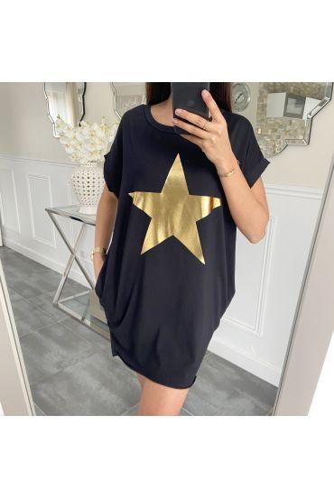 TUNIC STAR 5462 BLACK