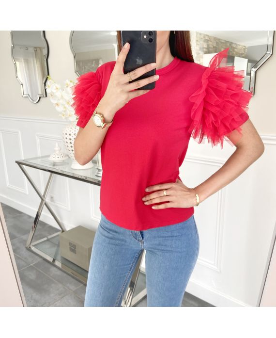 TOP SHORT FRILLY 5474 RED