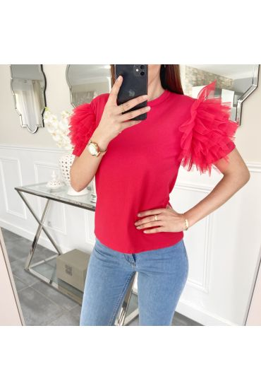 TOP KORTE FRILLY 5474 ROOD