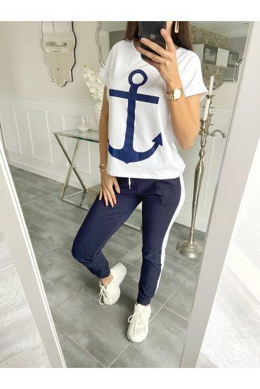 SET T-SHIRT + PANTS MARINE 5535 NAVY BLUE