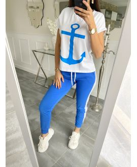 SET T-SHIRT + PANTS MARINE 5535 ROYAL BLUE