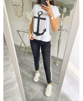 SET T-SHIRT + PANTS MARINE 5535 BLACK