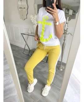 SET T-SHIRT + PANTS MARINE 5535 YELLOW