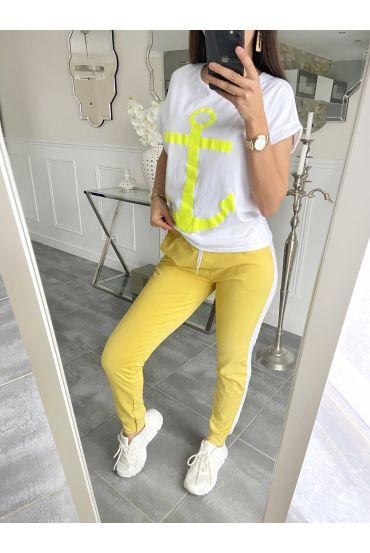 SET T-SHIRT + PANTS MARINE 5535 YELLOW