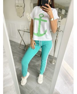 SET T-SHIRT + PANTS MARINE 5535 GREEN