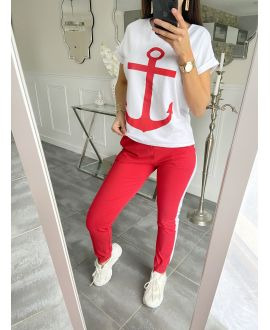 SET T-SHIRT + PANTS MARINE 5535 RED